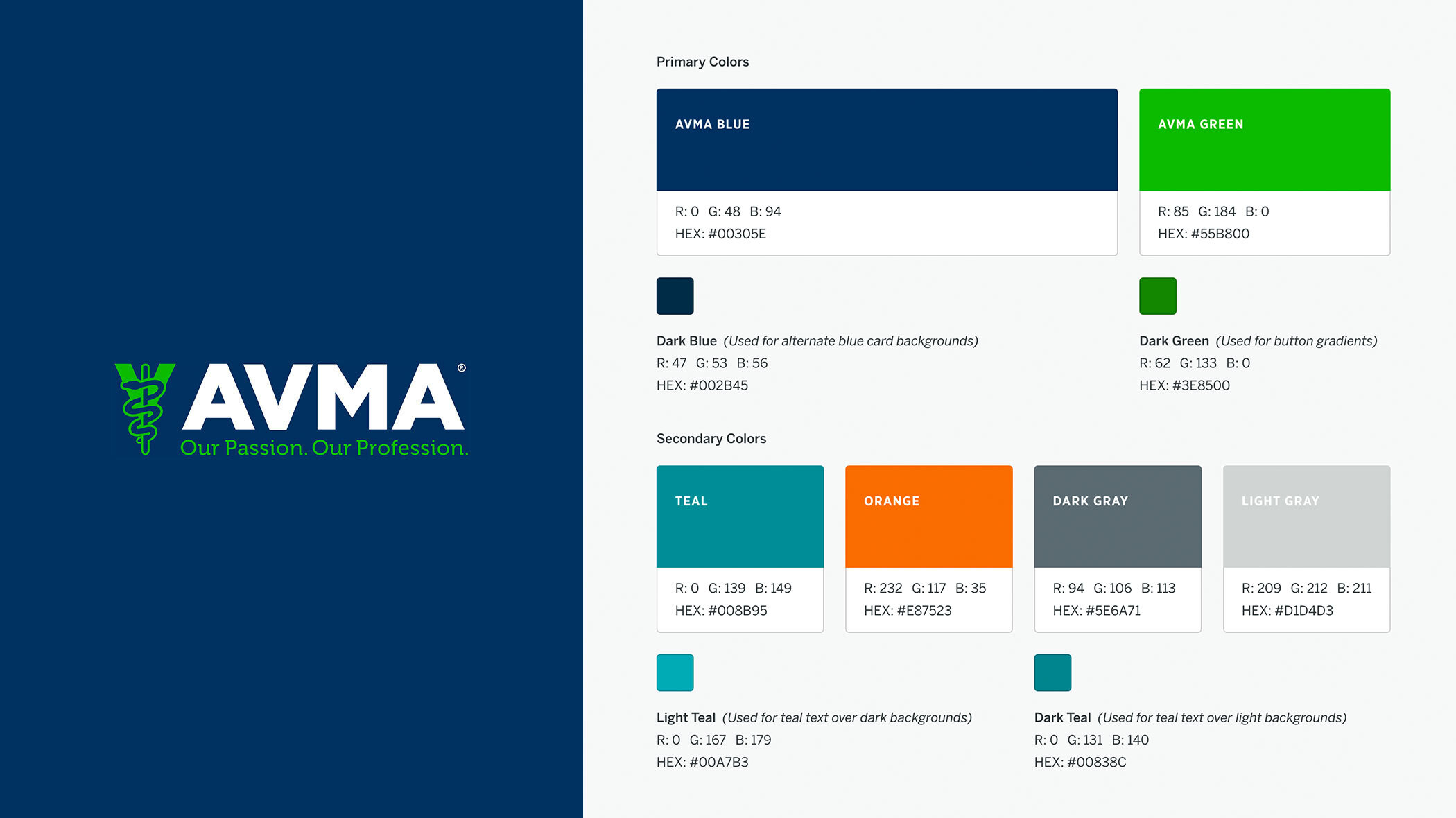 A brand exploration style guide with color swatches and typography samples