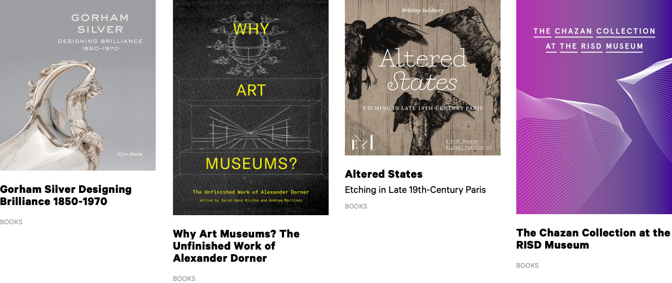 Printed publication books from the Museum website
