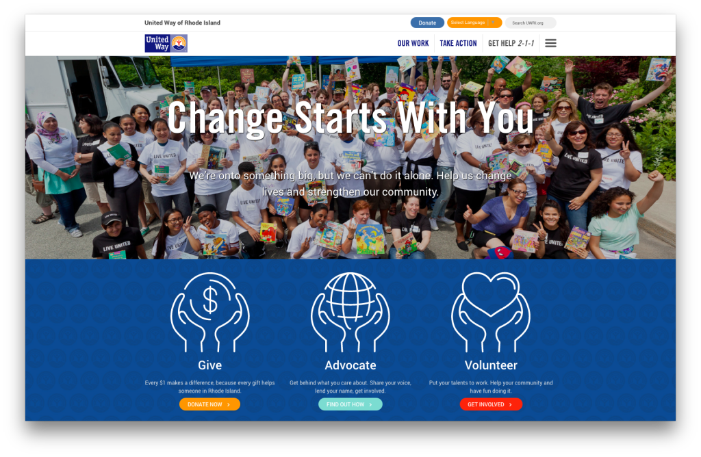 Oomph partnered with United Way to build a new site that allows them to take advantage of the power of digital marketing among donors, volunteers, and partners.