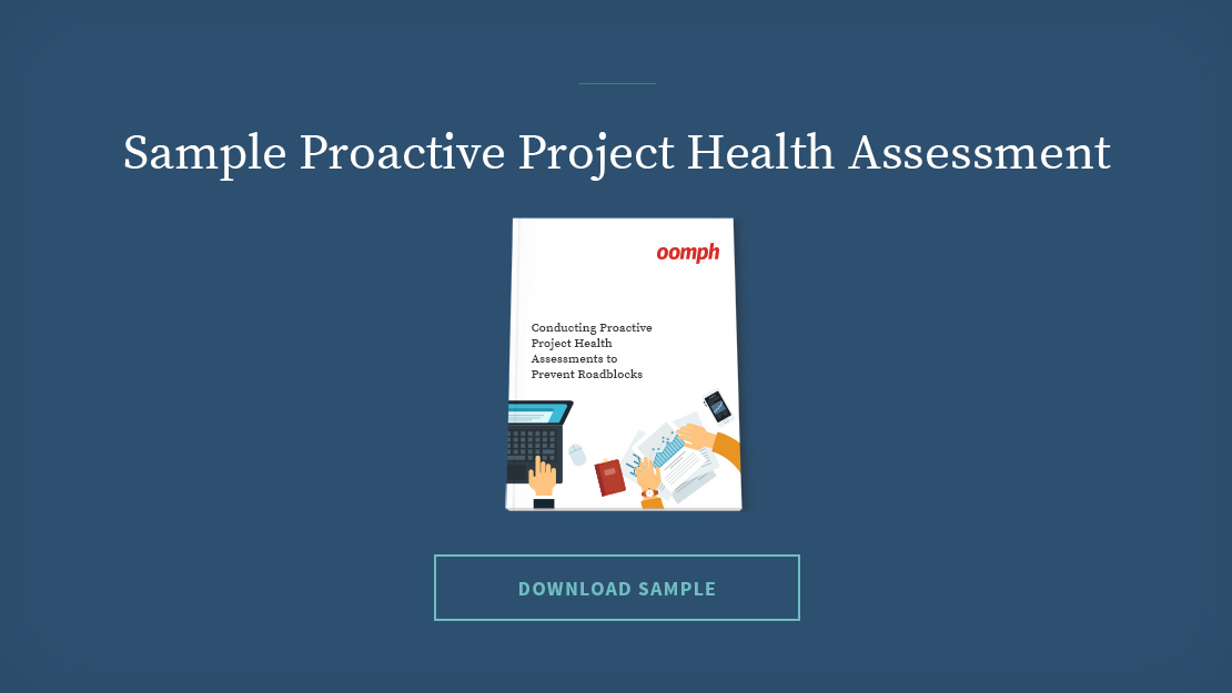 Proactive Project Health Assessment template